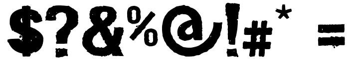 Dirt2 Stickler Font OTHER CHARS