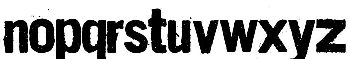 Dirt2 Stickler Font LOWERCASE