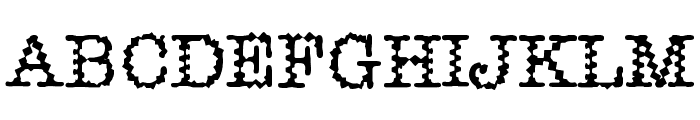Dirtee Font UPPERCASE
