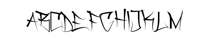 Dirtgrub Graffiti Font UPPERCASE