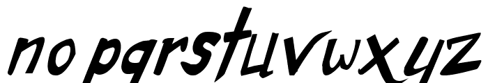 Dirty Duo Bold Italic Font LOWERCASE