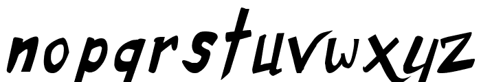 Dirty Duo Italic Font LOWERCASE