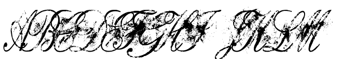 Dirty English Font UPPERCASE