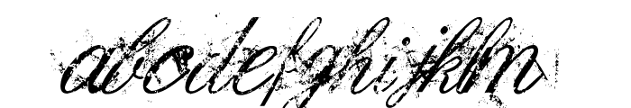 Dirty English Font LOWERCASE
