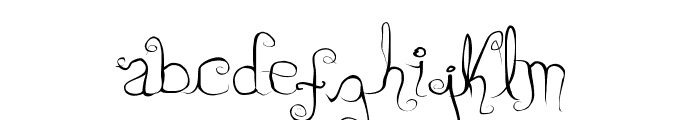 Dirty Lady Font LOWERCASE