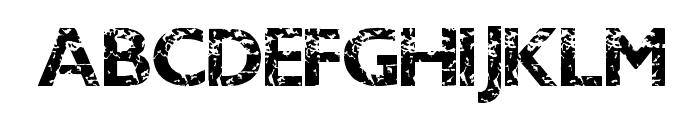 DirtyBandit Font UPPERCASE