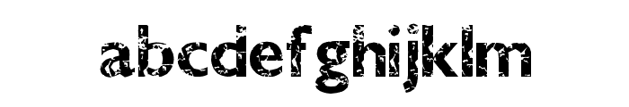 DirtyBandit Font LOWERCASE