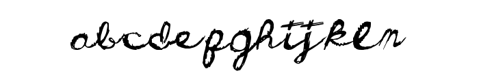 DirtyCursive Font LOWERCASE