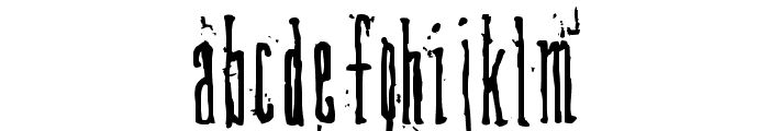 DirtyDeco Font LOWERCASE