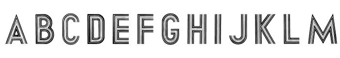 DirtyHatchCaps Font LOWERCASE