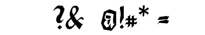 DirtyThinkwitz Font OTHER CHARS
