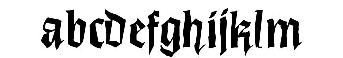 DirtyThinkwitz Font LOWERCASE