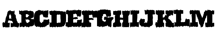 DirtyWestern Font UPPERCASE