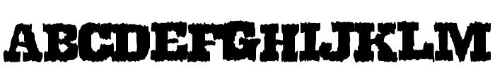 DirtyWestern Font LOWERCASE