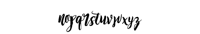 Dirtyline_Rising Brush Free Font LOWERCASE
