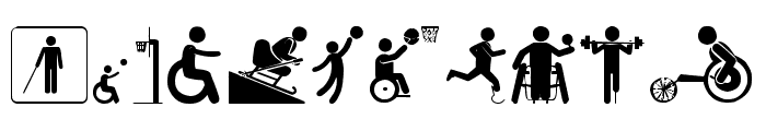 Disabled Icons Font OTHER CHARS