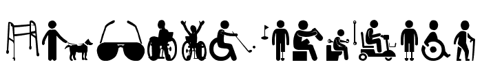 Disabled Icons Font UPPERCASE