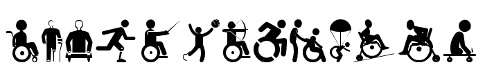 Disabled Icons Font LOWERCASE