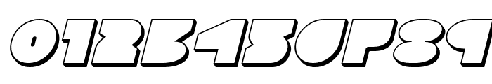Disco Deck 3D Italic Font OTHER CHARS