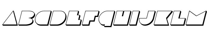 Disco Deck 3D Italic Font UPPERCASE