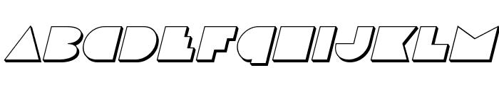 Disco Deck 3D Italic Font LOWERCASE