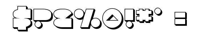 Disco Deck 3D Font OTHER CHARS