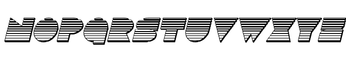 Disco Deck Chrome Italic Font UPPERCASE