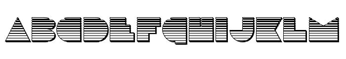 Disco Deck Chrome Font UPPERCASE