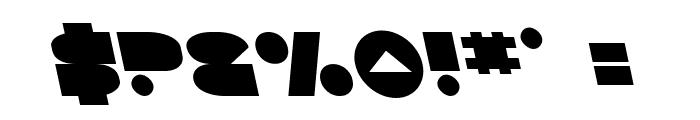 Disco Deck Leftalic Font OTHER CHARS