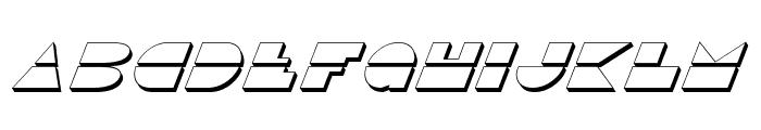 Disco Duck 3D Italic Font UPPERCASE