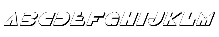 Disco Duck 3D Italic Font LOWERCASE