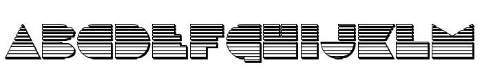 Disco Duck Chrome Font UPPERCASE