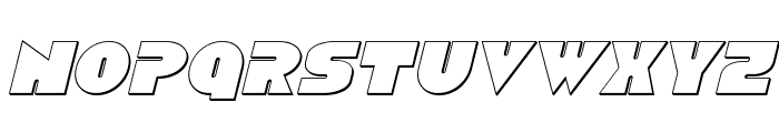 Disco Duck Outline Italic Font LOWERCASE