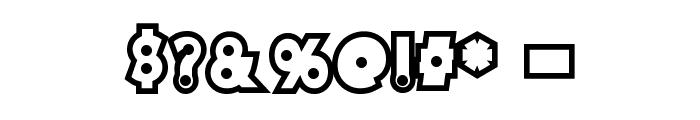 DiscoRush Font OTHER CHARS