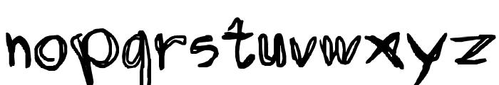 Discombobulated Sketchancholy Font LOWERCASE