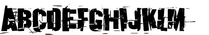 Discombobulated Font UPPERCASE