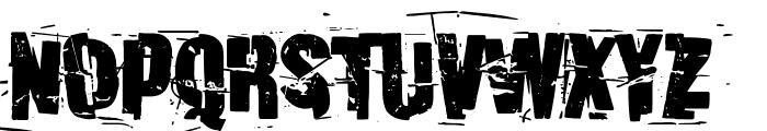 Discombobulated Font LOWERCASE
