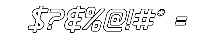 Discotechia Outline Font OTHER CHARS