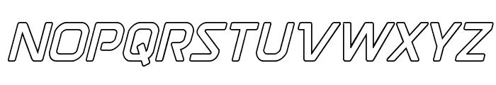 Discotechia Outline Font UPPERCASE