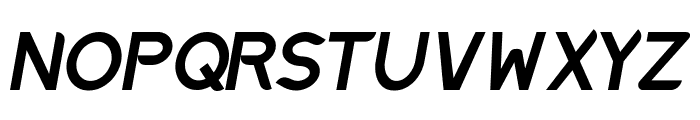 Discreet SemiBold Inclined Font UPPERCASE