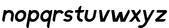 Discreet SemiBold Inclined Font LOWERCASE