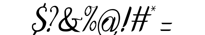 DisguiseDisplaySans-Italic Font OTHER CHARS