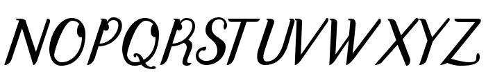 DisguiseDisplaySans-Italic Font UPPERCASE