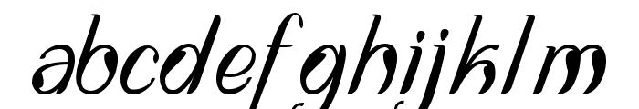 DisguiseDisplaySans-Italic Font LOWERCASE