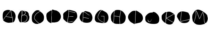 DiskO-LightInvers Font UPPERCASE