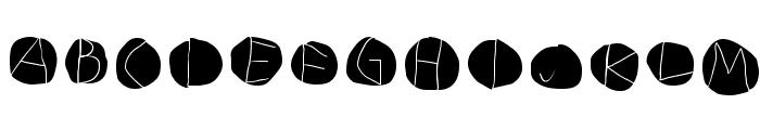 DiskO-LightInvers Font LOWERCASE