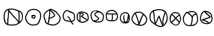 DiskO-Medium Font UPPERCASE