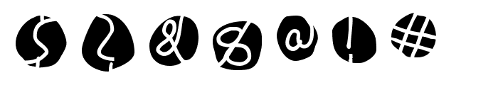 DiskO-MediumInverse Font OTHER CHARS