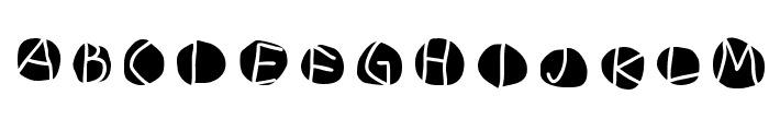 DiskO-MediumInverse Font LOWERCASE