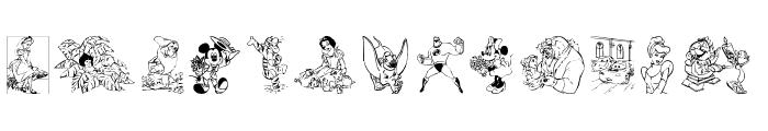 Disney family 1 Font LOWERCASE
